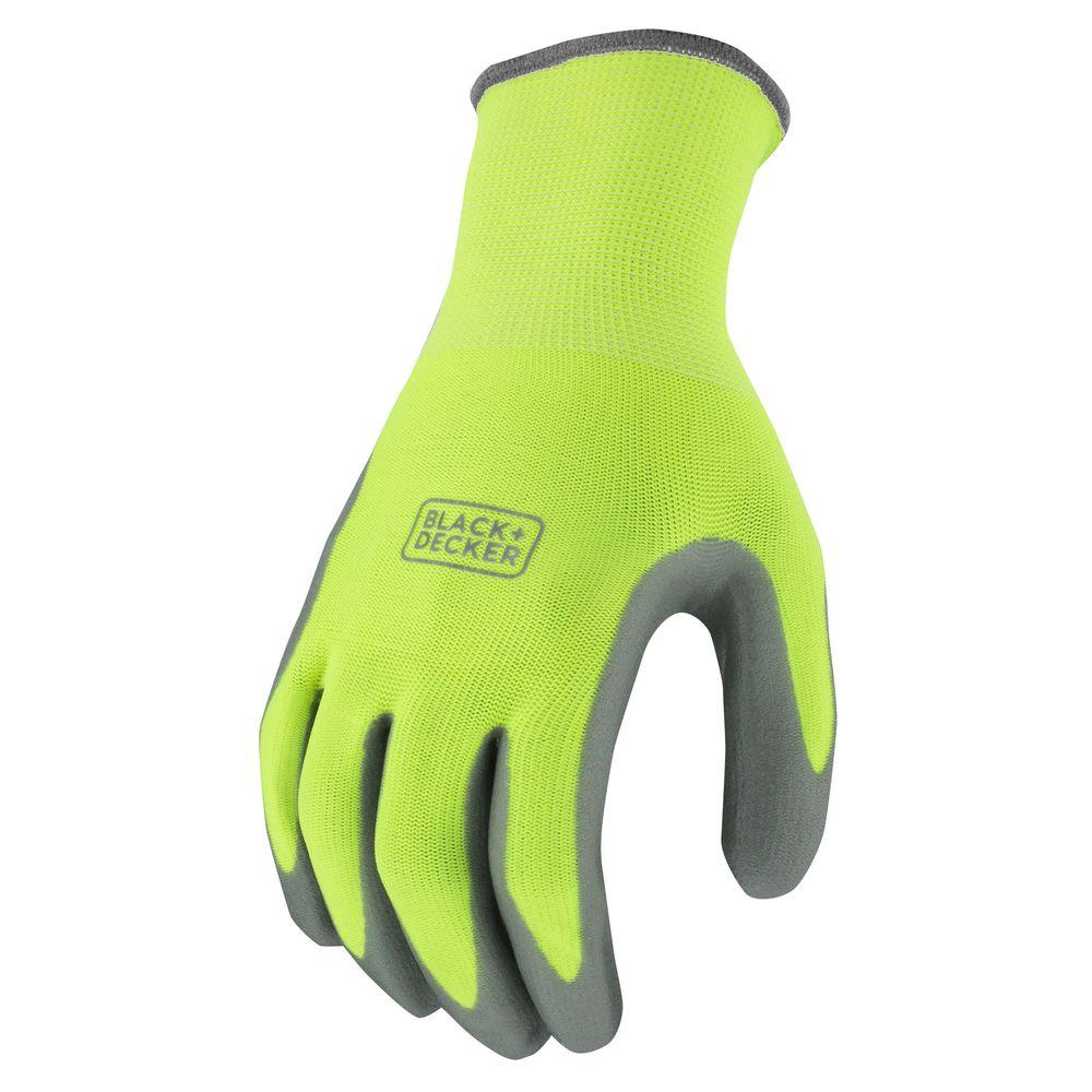 Men's Large High Visibility Green Foam Nitrile Grip Glove