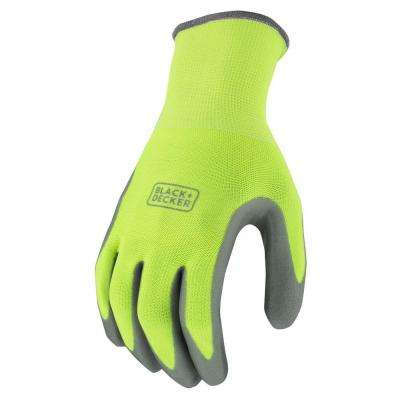 Men's X-Large High Visibility Green Foam Nitrile Grip Glove