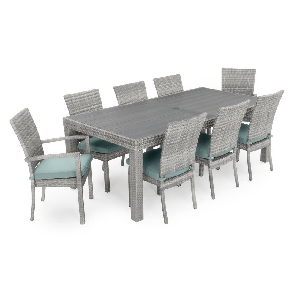 Dining Set Tan Long Glass Dining Table 555