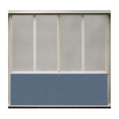 20 sq. ft. Quarry Blue Fabric Covered Bottom Kit Wall Panel