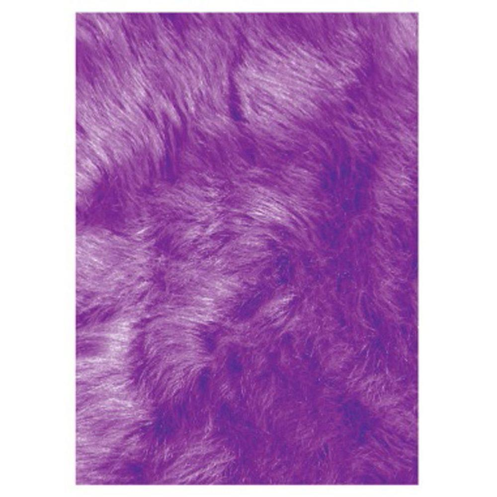 la rug flokati purple 2 ft 7 in x 3 ft 11 in accent