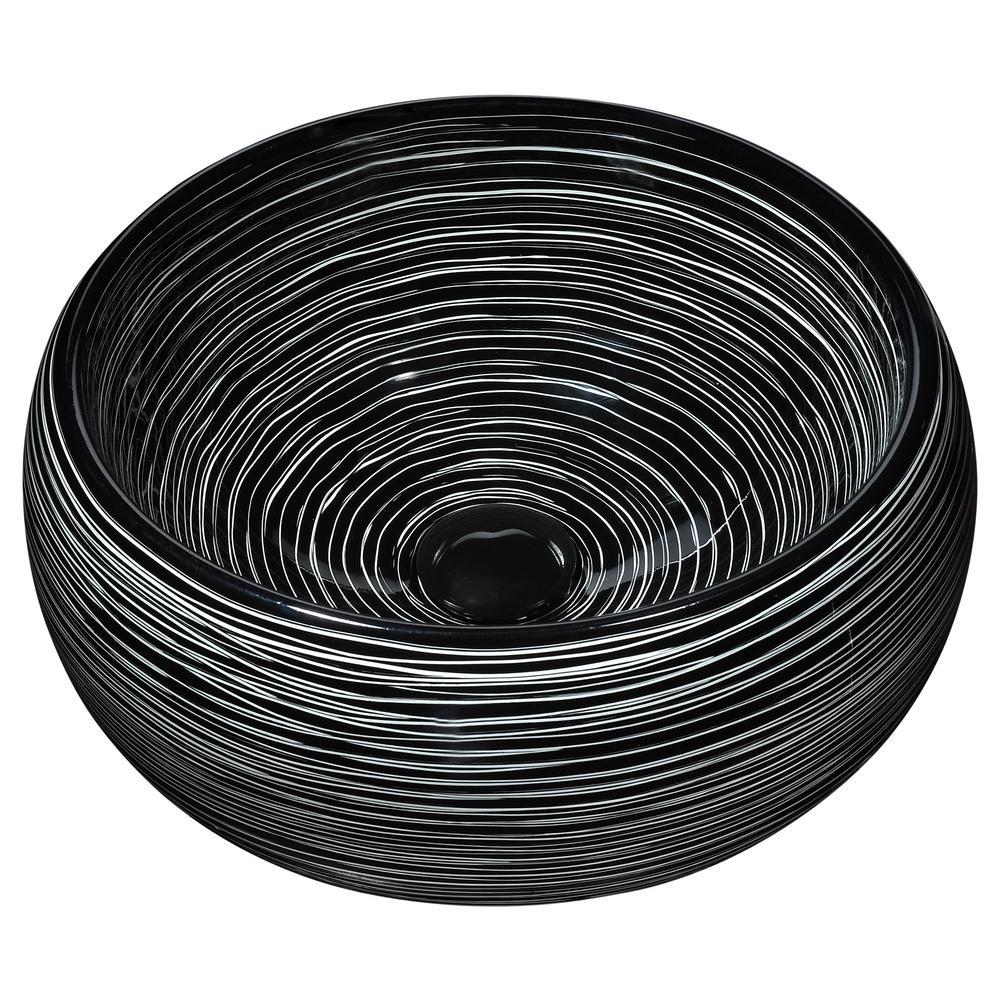 Anzzi Astral Series Ceramic Vessel Sink In Seismic Black