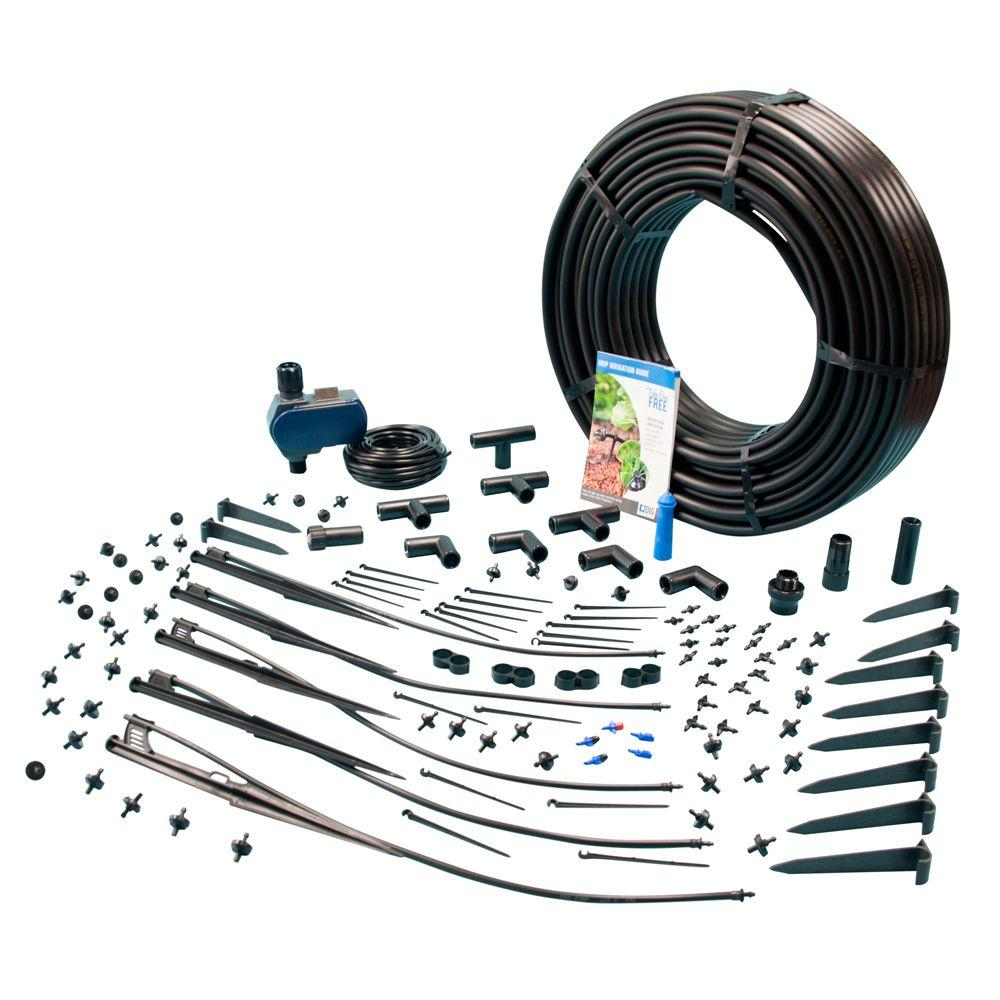 Exclusive Drip Irrigation and Micro Sprinkler Kit with Waterproof Digital Solar