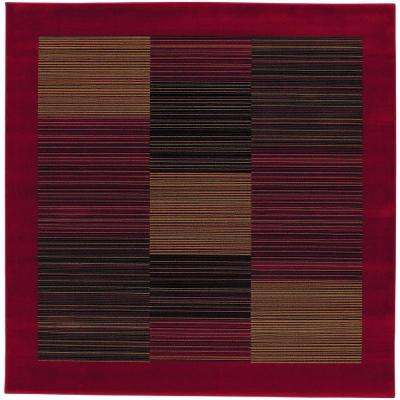 Everest Hampton's Red 3 ft. 11 in. x 3 ft. 11 in. Square Area Rug