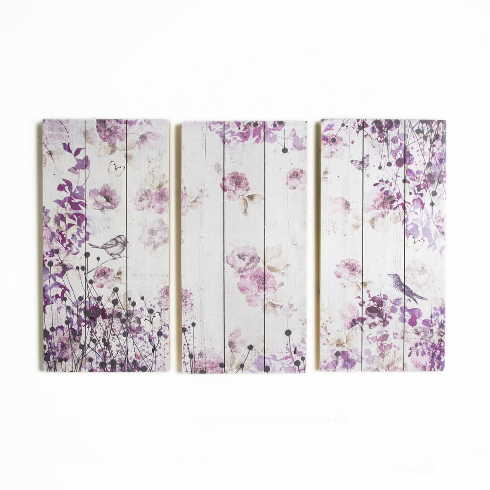 12 in. x 24 in. Birds and Butterflies by Graham and