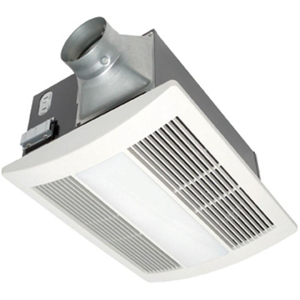 Panasonic whisperwarm 110 cfm ceiling exhaust bath fan - Ductless bathroom exhaust fan with light ...