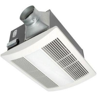 WhisperWarm Lite 110 CFM Ceiling Exhaust Fan with Light and Heater, Quiet, Energy Efficient and Easy to Install