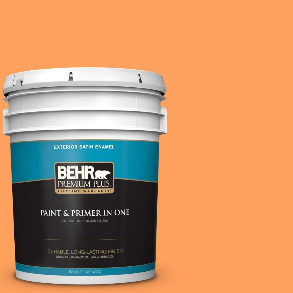 5-gal. #250B-5 Orange Spice Satin Enamel Exterior Paint