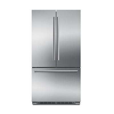 800 Series 36 in. 20.7 cu. ft. French Door Refrigerator in Stainless Steel, Counter Depth