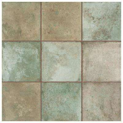 Kings Etna Sage 13 -1/8 in x 13 -1/8 in. Ceramic Floor and Wall Tile