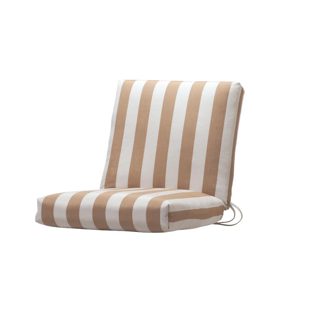 Sunbrella Maxim Heather Beige Outdoor Dining Chair Cushion