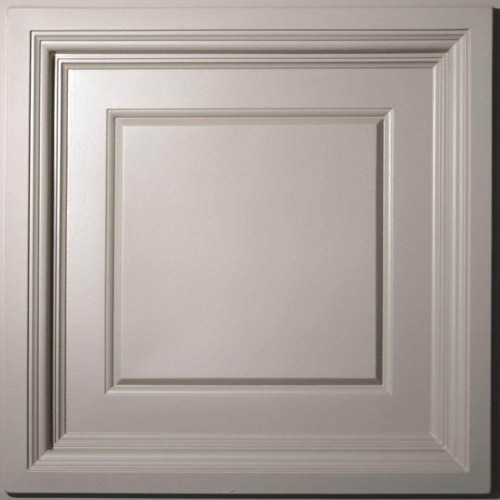 Ceilume Madison Latte Evaluation Sample, Not suitable for installation - 2 ft. x 2 ft. Coffered Ceiling Panel