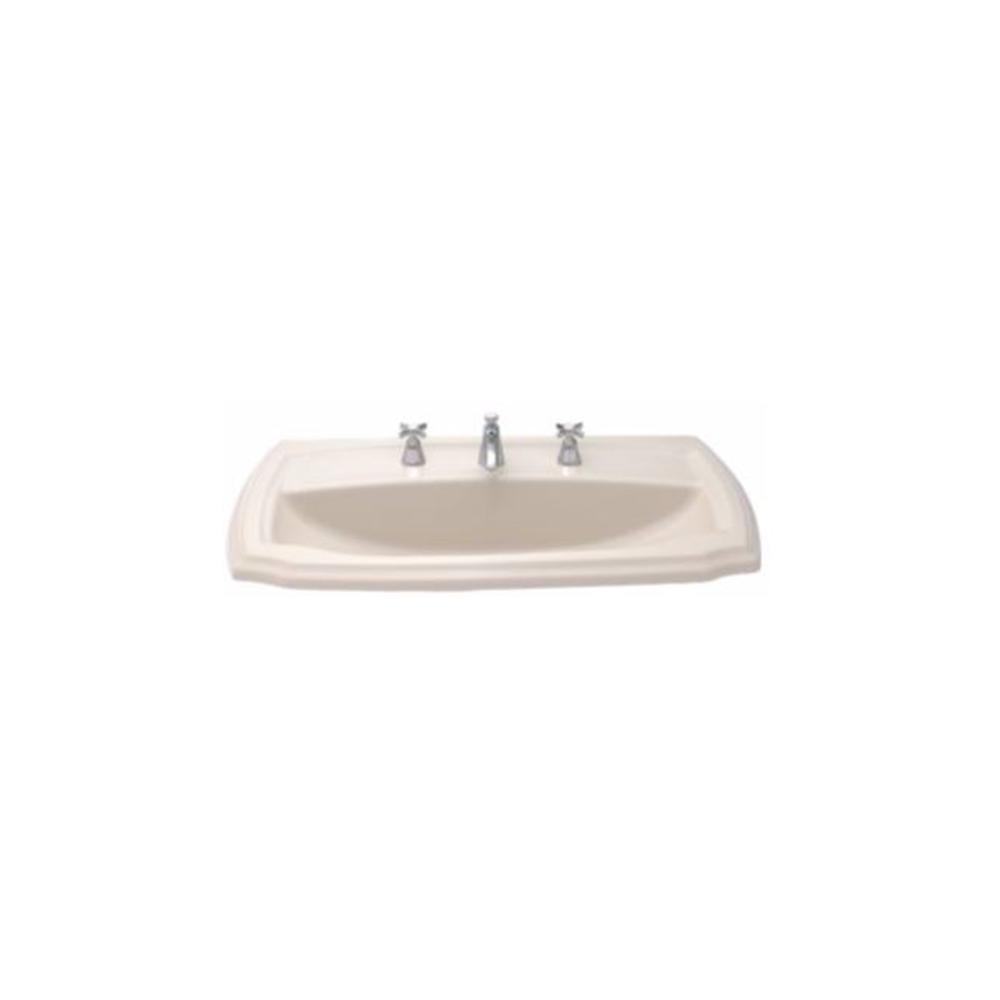Toto Guinevere 28 In Self Rimming Drop In Bathroom Sink With 8 In Faucet Holes In Bone Lt971 8