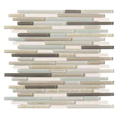 Cocoa Mint 11-1/2 in. x 11-5/8 in. x 8 mm Glass Mosaic Tile