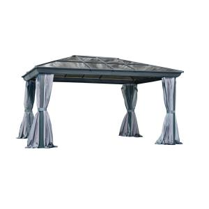12 ft. x 16 ft. All-Season Gazebo in Grey by
