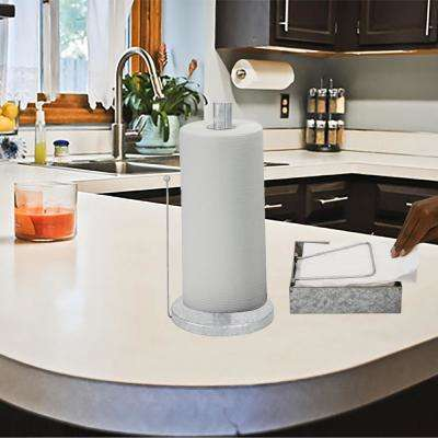 Free Standing Metal Paper Towel Storage Holder Galvanized Napkin Holder