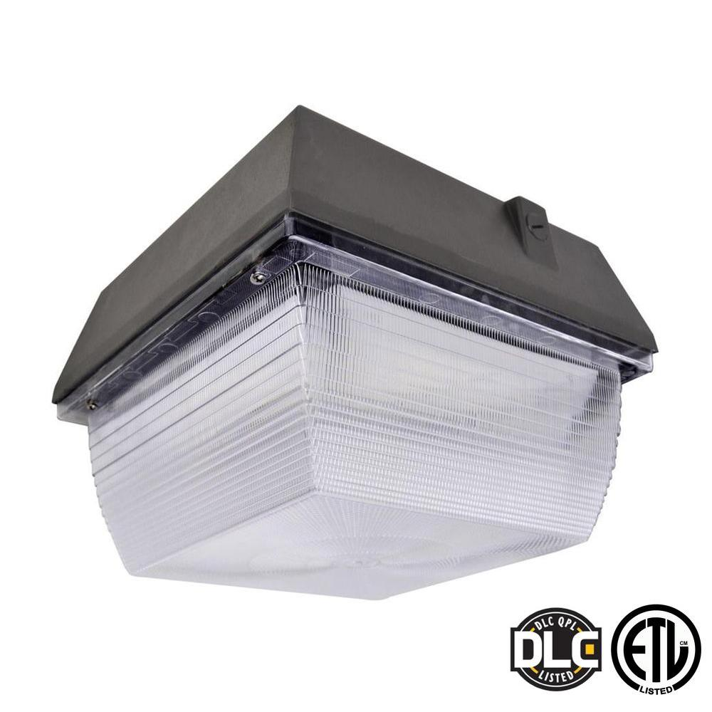 Canopy light led lsi led canopy lights led canopy lighting fixtures recessed led canopy light for Home depot 600 exterior street