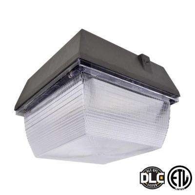 60-Watt Bronze LED Outdoor Canopy Light Natural White (5000K)
