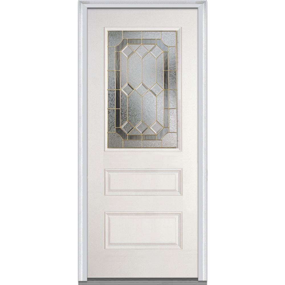 36 in. x 80 in. Majestic Elegance Right-Hand 1/2 Lite 2-Panel
