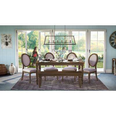 Canela Cinnamon Dining Bench