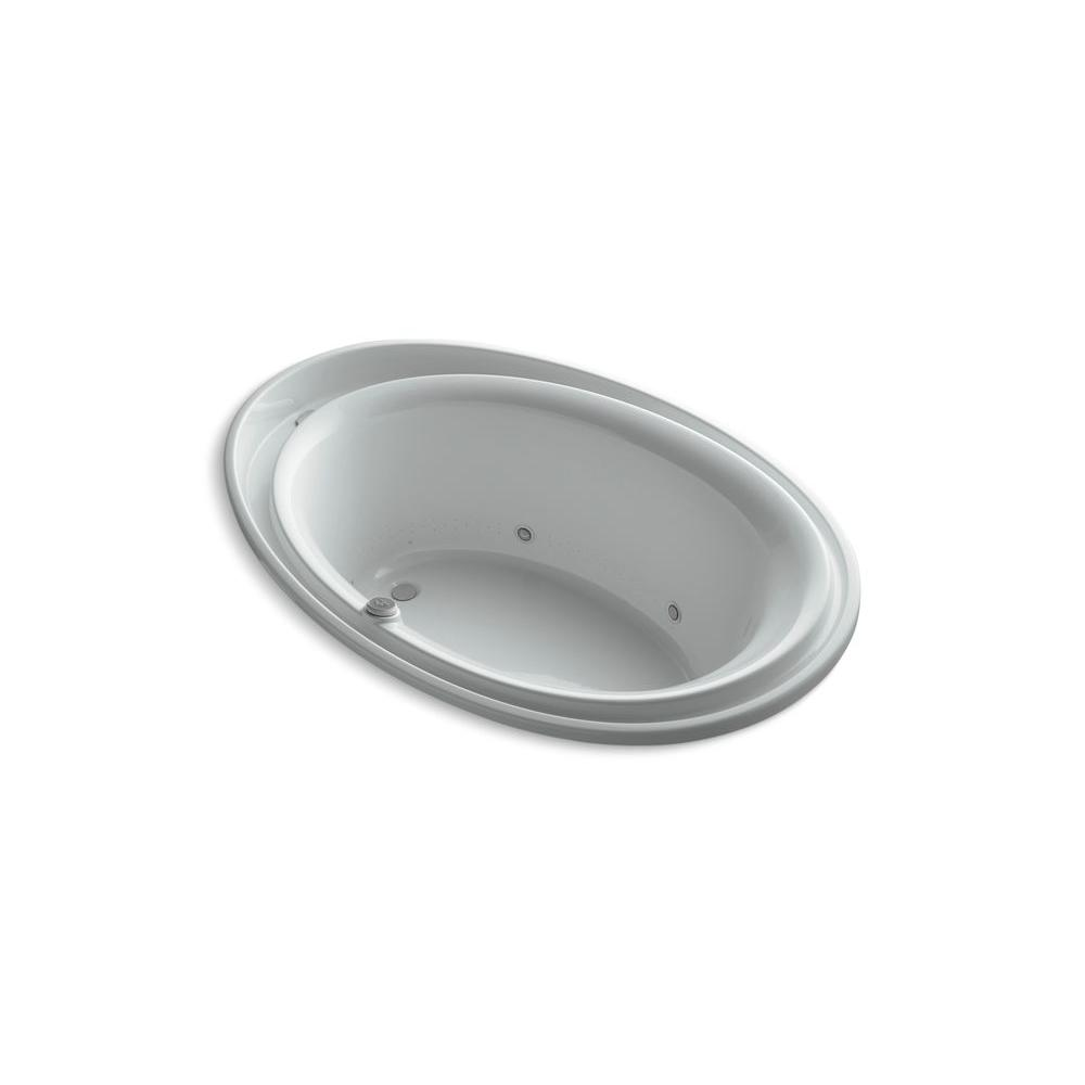 KOHLER Purist 6 ft. Air Bath Tub in Ice Grey-DISCONTINUED