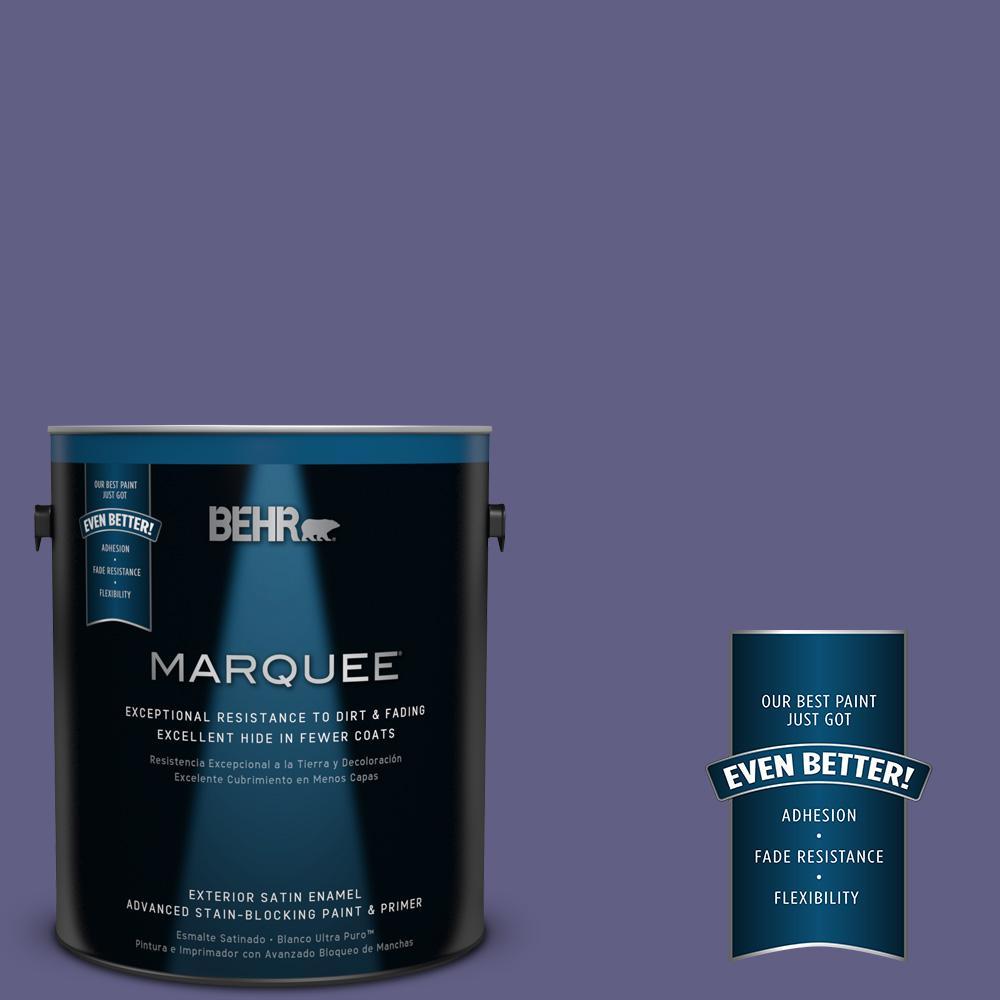 BEHR MARQUEE 1-gal. #640D-7 Pharaoh Purple Satin Enamel Exterior Paint