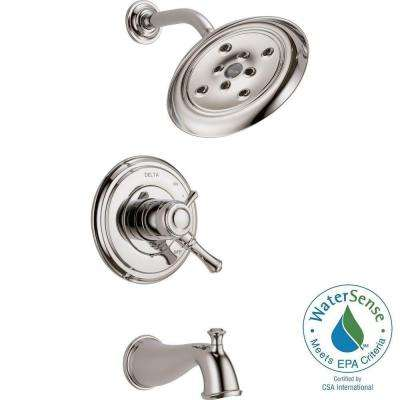 Cassidy 1-Handle H2Okinetic Tub and Shower Faucet Trim Kit Only in Polished Nickel (Valve Not Included)