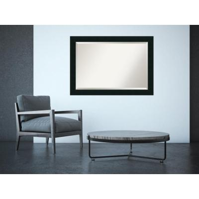 Corvino Black Wood 41 in. x 29 in. Contemporary Framed Mirror