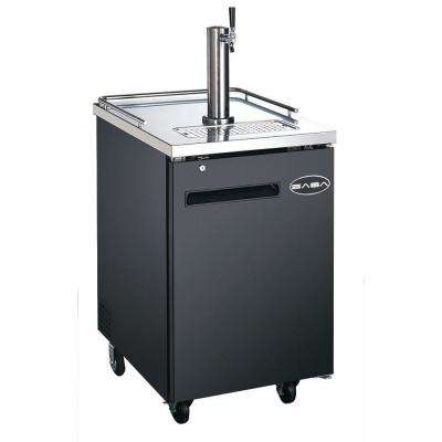 One 1/2 Barrel Beer Keg Dispenser Refrigerator Cooler with Single Tap Tower