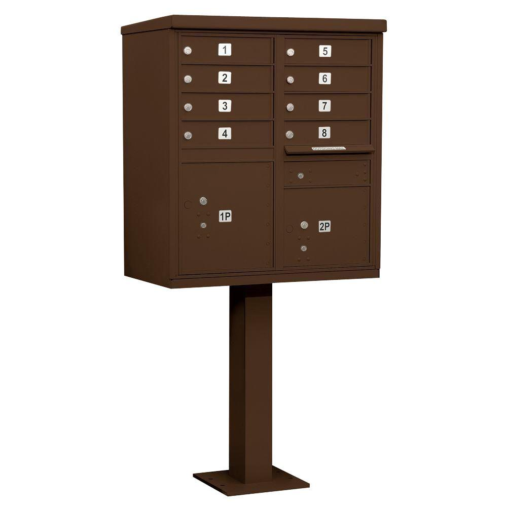 Bronze USPS Access Cluster Box Unit with 8 A Size Doors