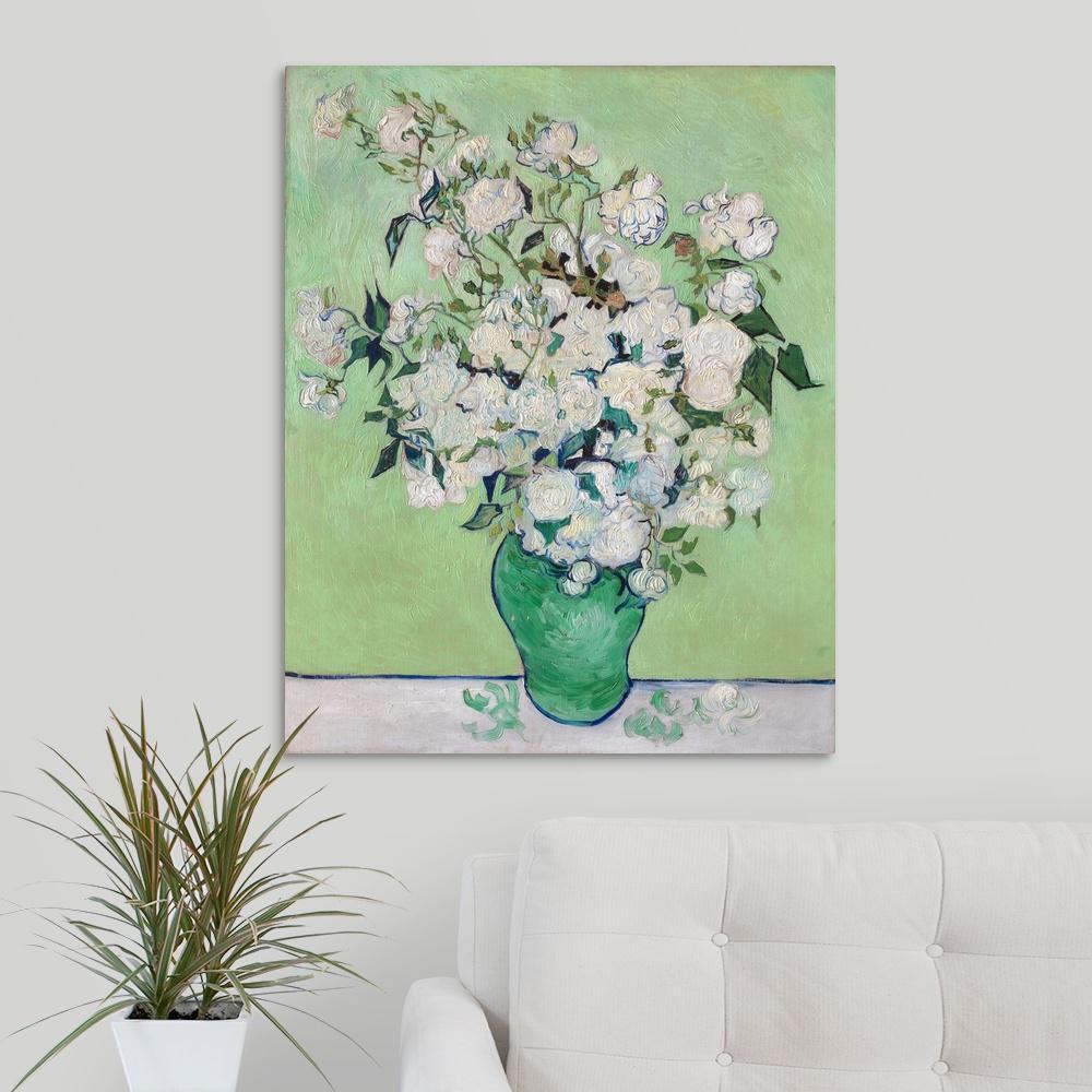 Vincent Van Gogh Irises Garden Flower Floral Mahogany Framed Art Print Picture
