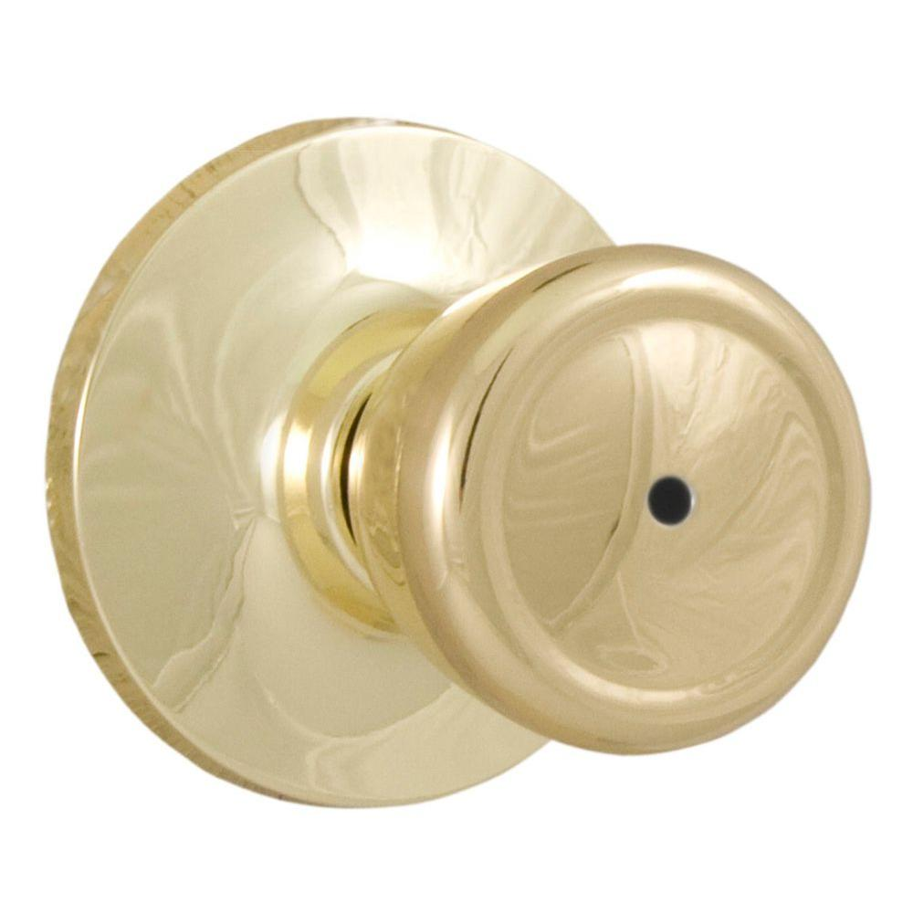 Weslock Reliant Polished Brass Privacy Tulip Knob