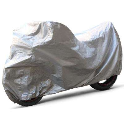 Solar Polyproplene 137 in. x 43 in. x 46 in. Large Motorcycle Cover