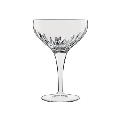 Mixology 7.5 fl. oz. Lead-Free Crystal Glass Coupe Cocktail Glass (4-Pack)