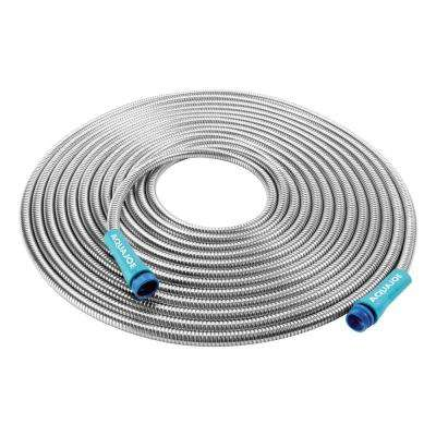 1/2 in. Dia x 50 ft. Heavy-Duty Spiral Constructed Stainless Steel Metal Garden Hose