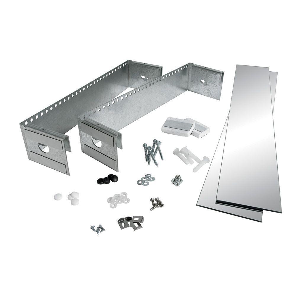 JENSEN 4 in. x 25 in. Surface-Mount Side Mirror Kit for Medicine Cabinet