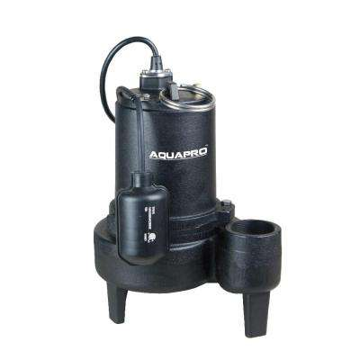 1/2 HP Sewage Pump with Piggyback Tethered Float Switch