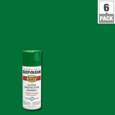 12 oz. Protective Enamel Gloss Emerald Spray Paint (6-Pack)