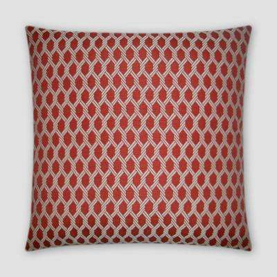 Reel It In Red Feather Down 18 in. x 18 in. Standard Decorative Throw Pillow