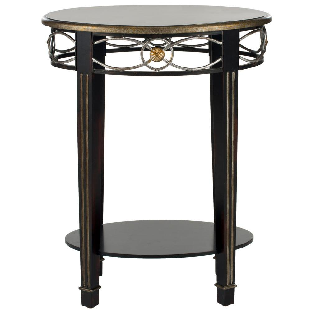 Debra Dark Brown Side Table