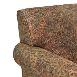 Marvelous Handy Living Winnetka Arm Chair And Ottoman In Paisley Wtk1 Machost Co Dining Chair Design Ideas Machostcouk