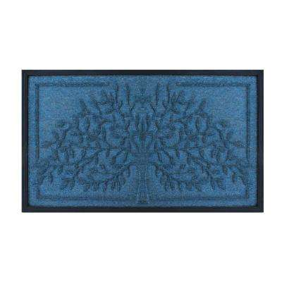 A1HC First Impression Tree Design Molded 18 in. x 30 in. Polypropylene Door Mat