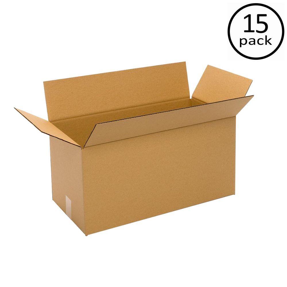 Plain Brown Box 24 in. x 16 in. x 12 in. 15-Box Bundle