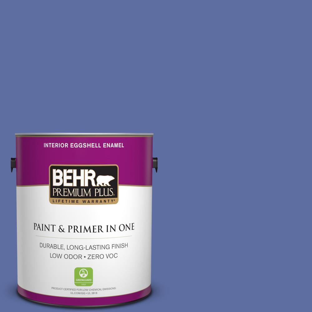BEHR Premium Plus 1-gal. #610B-6 Stained Glass Zero VOC Eggshell Enamel Interior Paint