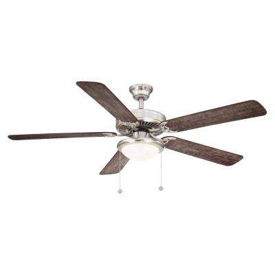 Trice 56 in. LED Brushed Nickel Ceiling Fan