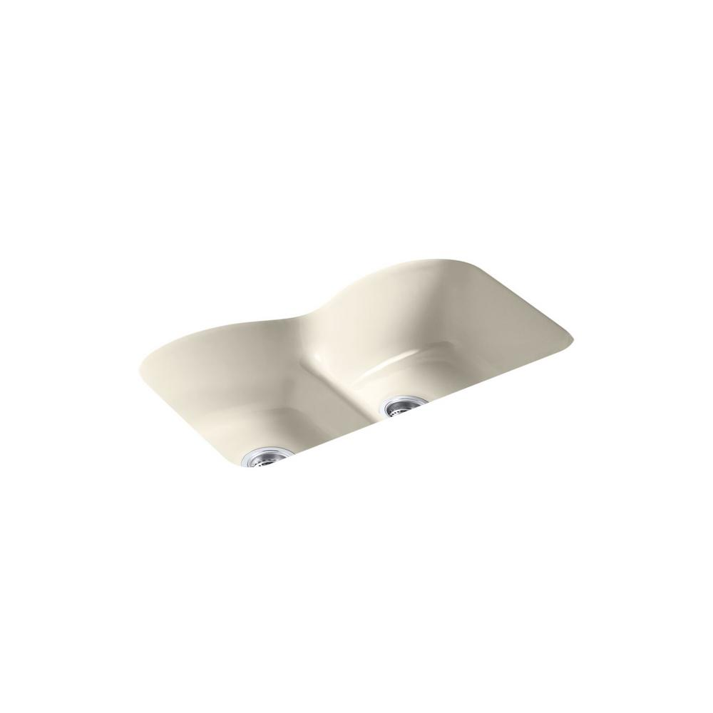 Kohler Langlade Smart Divide Undermount Cast Iron 33 In 6