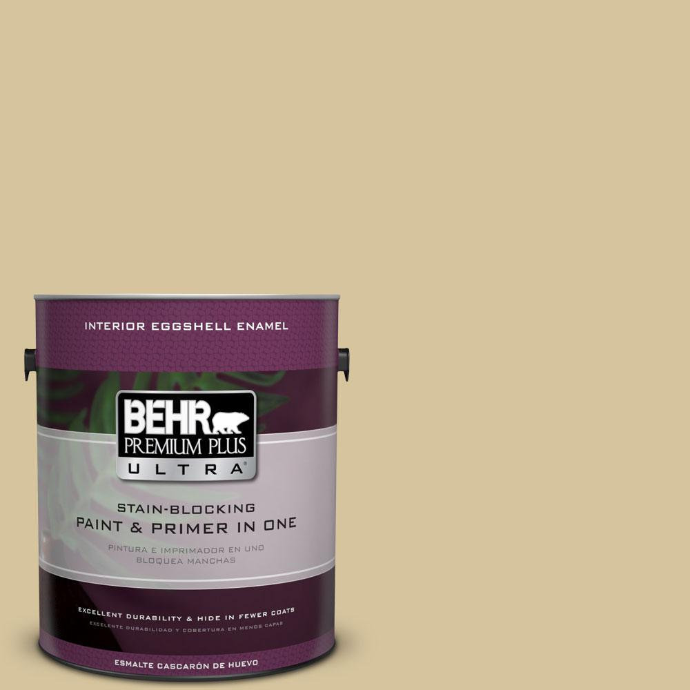 BEHR Premium Plus Ultra Home Decorators Collection 1-gal. #HDC-NT-02 White Oak Eggshell Enamel Interior Paint