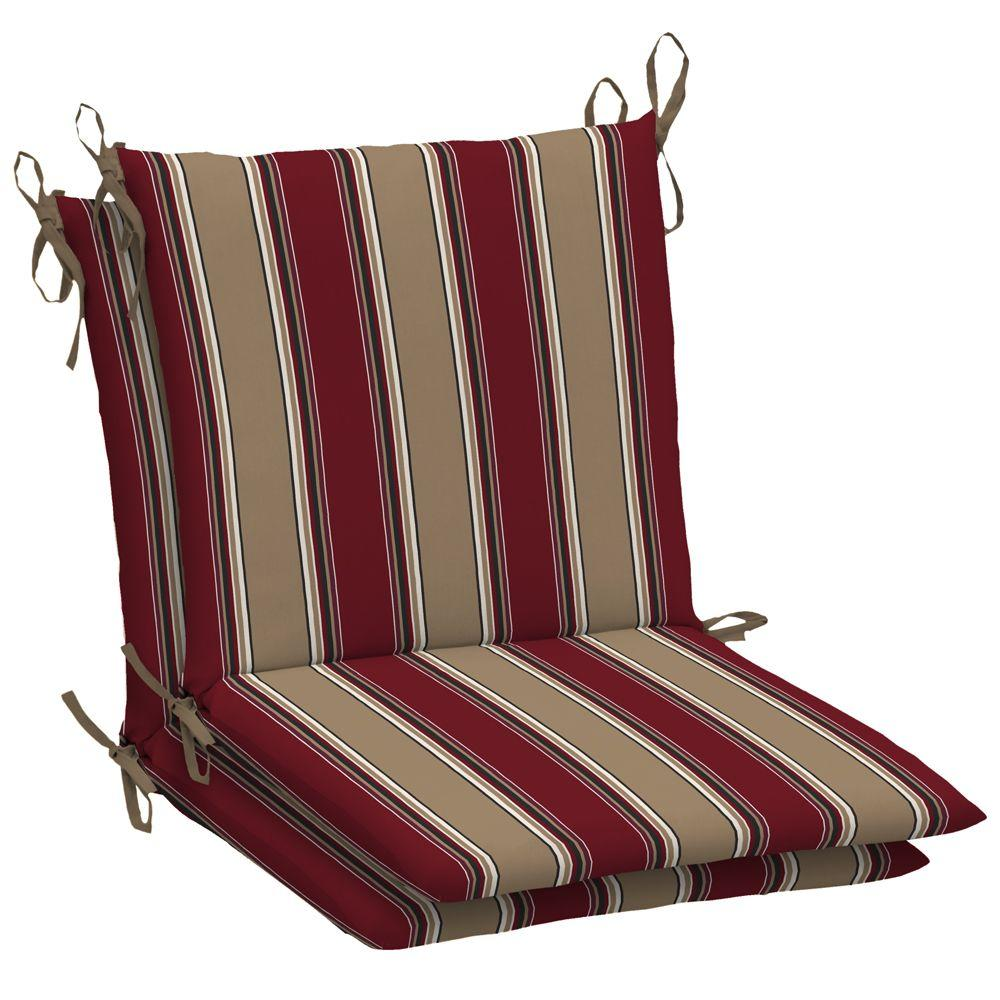 Arden Hancock Chili 2 Mid Back Outdoor Chair Cushion (2-Pack)-DISCONTINUED