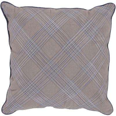 Plaid 18 in. x 18 in. Decorative Pillow