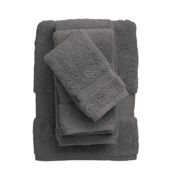 The Company Store Legends Sterling Supima Cotton Fingertip Towel in Dark